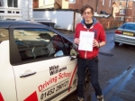 Passed. Joe Yeates of Gloucester passed with Mike Williams Driving School