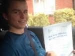 Passed. Jordan Stevens of Gloucester passed with Mike Williams Driving School