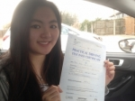 Passed. Julia Yip of Gloucester passed with Mike Williams Driving School