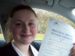 Passed. Libby Cookson of Gloucester passed with Mike Williams Driving School