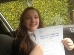 Passed. Louise Cornock of Gloucester passed with Mike Williams Driving School