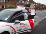 Passed. Lucy Pearce of Gloucester passed with Mike Williams Driving School