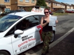 Passed. Megan Holliday of Gloucester passed with Mike Williams Driving School