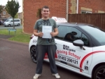 Passed. Nathan Fry of Gloucester passed with Mike Williams Driving School