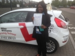 Passed. Rumona Nyajery of Gloucester passed with Mike Williams Driving School