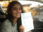 Passed. Sadia Hameed of Gloucester passed with Mike Williams Driving School