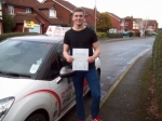 Passed. Sam Watson of Gloucester passed with Mike Williams Driving School