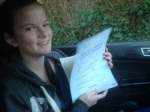 Passed. Sian Morgan of Gloucester passed with Mike Williams Driving School