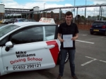 Passed. Tom Bailey of Gloucester passed with Mike Williams Driving School