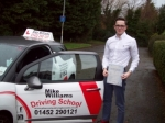 Passed. Tom Hodkinson of Gloucester passed with Mike Williams Driving School