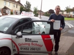 Passed. Tom Legge of Gloucester passed with Mike Williams Driving School