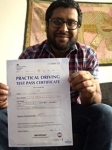 Vijay Kesavaram of Cheltenham passed with Mike Williams Driving School