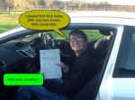 Jonathan passed with Clover School of Motoring