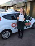 Millie passed 29th Nov 16 passed with Clover School of Motoring