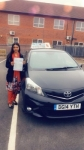 Miss Safia Haleema Mahmood passed with Craig Polles Driver Training