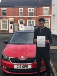 Arsalan passed with Craig Polles Driver Training