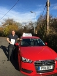 Adam Ball passed with Craig Polles Driver Training