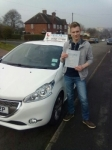 Elliott Barrow passed with Craig Polles Driver Training