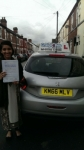 Heera Tariq passed with Craig Polles Driver Training