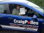 James passed with Craig Polles Driver Training