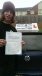 Jamie Lunt passed with Craig Polles Driver Training