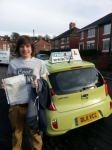 Jordan Cater passed with Craig Polles Driver Training