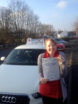 Kerry Vaughan passed with Craig Polles Driver Training