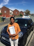 Moncy Baby passed with Craig Polles Driver Training