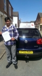 Muhammad Irfan passed with Craig Polles Driver Training