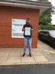 Mujahid Chaudry passed with Craig Polles Driver Training