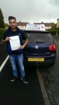 Nasser Aziz passed with Craig Polles Driver Training