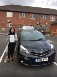 Sara Iqbak passed with Craig Polles Driver Training