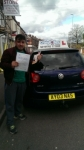 Rafiqullah Miakeel passed with Craig Polles Driver Training