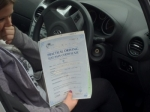 Sadie passed with Craig Polles Driver Training