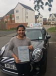 Jisha Antony passed with Craig Polles Driver Training