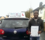 Shingi Mhembere passed with Craig Polles Driver Training