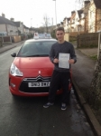 Spencer passed with Craig Polles Driver Training