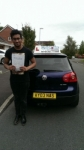 Tahmid passed with Craig Polles Driver Training