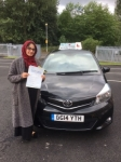 Uzma Afsar passed with Craig Polles Driver Training