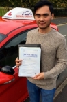 Cyrus Plazza passed with Driving Ambition