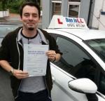 Luke passed with Dan Joll Driver Training
