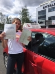 Charlotte 24/8/18  Borehamwood     0 FAULTS  passed with Diana's School of Motoring