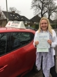 aneliese 5/4/18 passed with Diana's School of Motoring