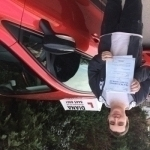 Justin passed with Diana's School of Motoring