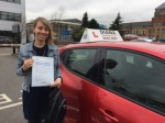 Luba 31/3/17 passed with Diana's School of Motoring