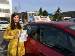 Juliette 5/4/17 passed with Diana's School of Motoring
