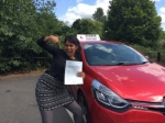 Mousinda passed with Diana's School of Motoring