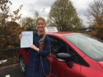 Georgiana 21/11/17 borehamwood passed with Diana's School of Motoring