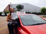 Genni 23/7/15 passed with Diana's School of Motoring