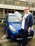 Toby 20/11/14 passed with Diana's School of Motoring